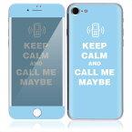 【お取寄せ】DecalSkin スキンシール Apple iPhone7/7Plus CP29/Keep Calm and Call me Maybe