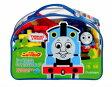 ニューブロック トーマスとおでかけバッグ 2才〜 バッグ入りでお出かけできます お片付けも簡単なブロックセット おもちゃ 知育玩具