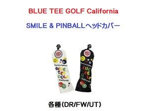 ブルー ティー ゴルフ カルフォルニアBLUE TEE GOLF CaliforniaSMILE & PINBALLヘッドカバー各種(DR/FW/UT)【あす楽対応】