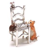 サツルノ:猫とねずみのシルバーオブジェ