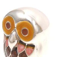 サツルノ:フクロウのシルバーオブジェ