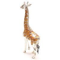 サツルノ:キリンのシルバーオブジェ