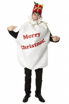 【クリスマス コスプレ 衣装 サンタ】袋マン 男女兼用 【送料無料】サンタクロース 衣装 仮装 コスチューム 店舗 イベント おもしろ 宴会 安い キャンペーン フクロマン プレゼント ギフト サンタコス トナカイ 面白い 忘年会 余興 メンズ 男性