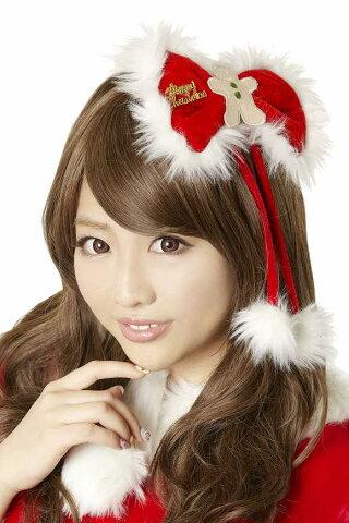 【サンタ クリスマス コスプレ】 ジンジャーリボンピン サンタ 衣装 サンタクロース 忘年会 パーツ コスチューム