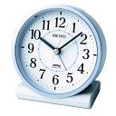 【SEIKO CLOCK セイコークロック】電波アナログ目覚まし時計【薄青】【KR328L】引越し祝い 新居祝い 一人暮らし プレゼント