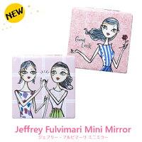 ジェフリーフルビマーリ/コンパクトミラー/ミニミラー/二面鏡鏡コンパクト手鏡コスメ雑貨ポケット2020新作アメージングガールズピンクJeffreyFulvimari