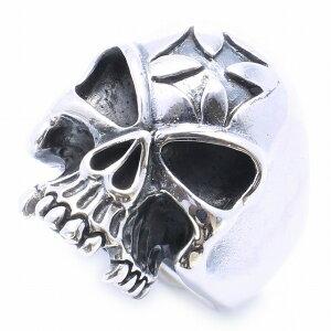 【RG-N066】SILVER925スカル(骸骨)正規軍クロスシルバーリング【指輪】/ドクロ/骸骨/ガイコツ/メンズ/レディース/【あす楽】