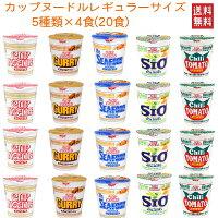 日清食品カップヌードルレギュラーサイズ5柄20食セット送料無料