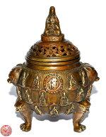 銅製開運観音様座像香炉