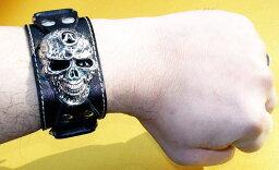 髑髏 リストバンドSkull braceletその他の雑貨 小物 新品レディースブレスレットメンズブレスレット男女兼用 威龍彩雲