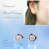 PT900★フクリンダイヤモンドピアス0.20ct