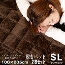 ★秋の大感謝祭★【抗菌・防ダニ】敷きパット 2枚組 暖か 敷...