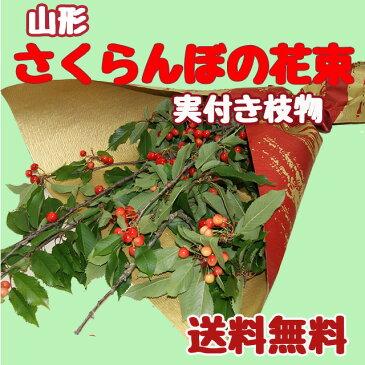 山形産さくらんぼの花束(実付き枝物) 農産物 ポイント消化 100円 300円 500円