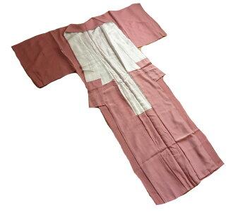 未使用着物色無地正絹ローズピンク中古着物リサイクル着物