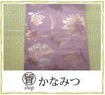 袋帯正絹白色毘沙門亀甲