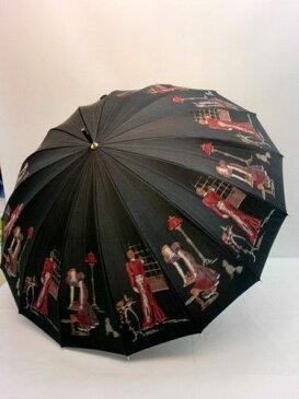 晴雨兼用・長傘−婦人 甲州産16本骨ほぐし織フレンチマダム超軽量晴雨兼用UVケア日本製手開傘 【送料無料】
