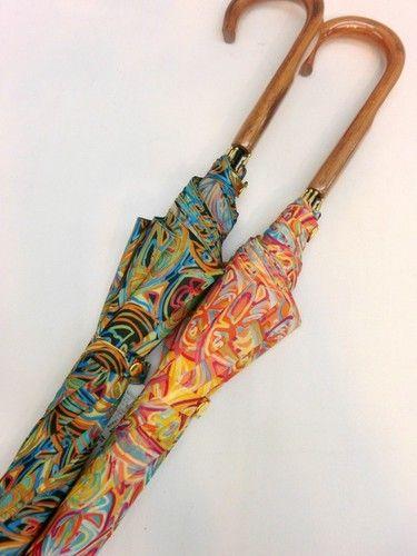 雨傘・長傘-婦人日本製ポリエステルチョウ花プリント軽量ジャンプ雨傘。