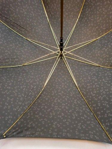 雨傘・長傘-婦人先染小花ジャガード両面日本製ジャンプ雨傘