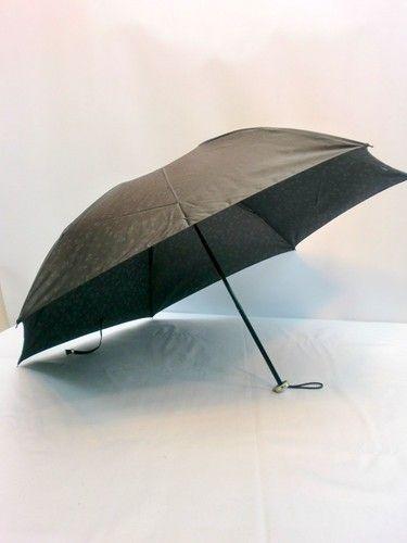 雨傘・折畳傘-婦人先染小花ジャガード両面日本製丸ミニ折畳雨傘