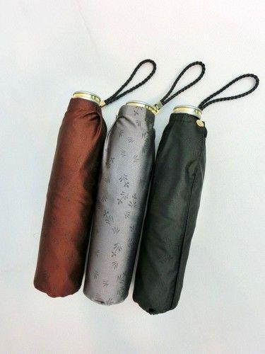 雨傘・折畳傘-婦人甲州産小花ジャガード生地男女兼用日本製軽量ミニ折畳雨傘(日本製)
