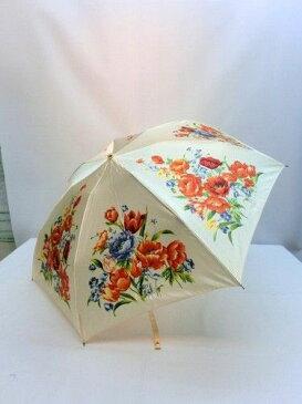 雨傘・折畳傘-婦人 ナイロンサテン駒取りブーケ柄プリントミニ折畳み雨傘 【送料無料】