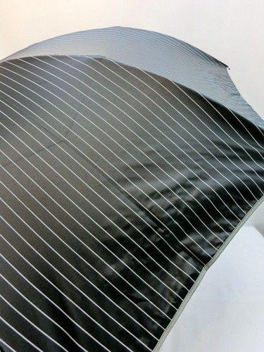 晴雨兼用・折傘−紳士UVカット99.9%ビッグサイズ超軽量ストライプ柄晴雨兼用折傘