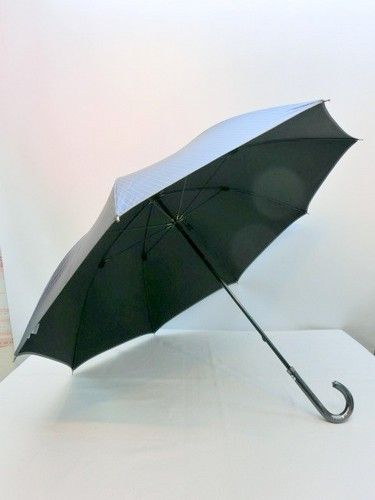 晴雨兼用・長傘−紳士UVカット99.9%ビッグサイズ超軽量ストライプ柄晴雨兼用長傘