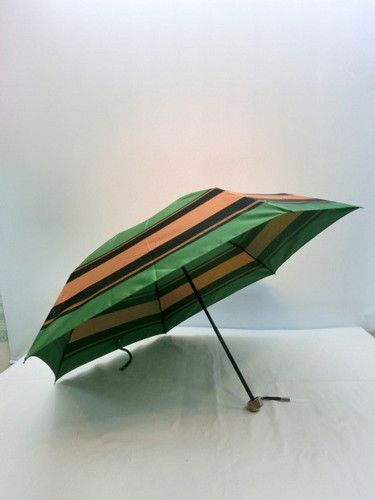 雨傘・折畳傘-婦人甲州産先染朱子格子日本製丸ミニ折畳傘