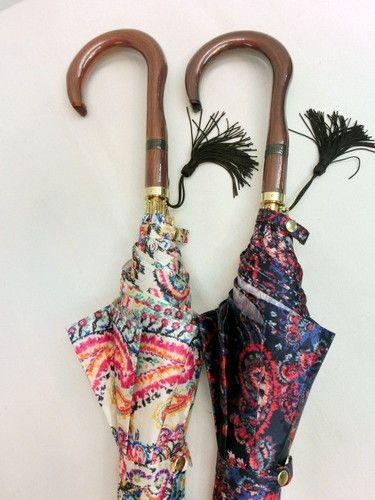 雨傘・長傘−婦人サテンジャガードペイズリー柄日本製軽量金骨ジャンプ雨傘