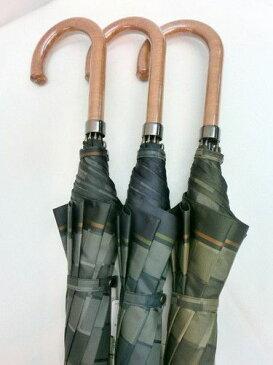 雨傘・長傘−紳士 甲州織朱子碁盤柄日本製グラスファイバー骨ジャンプ傘 【送料無料】