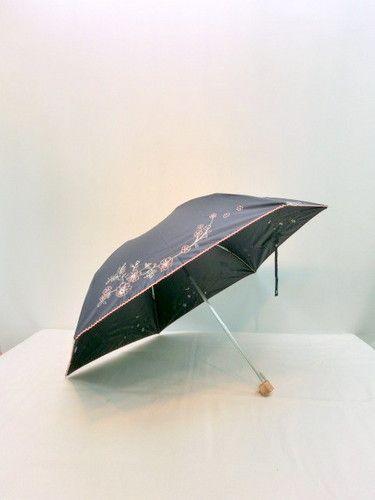 晴雨兼用傘・折畳傘-婦人全天候型生地紫外線99%カットフラワーオーナメントミニ折傘