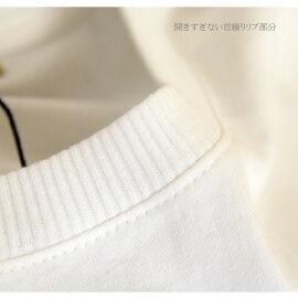 長袖Tシャツ/ロンT/カットソー/レディース/コットン/M/L/LL/3L/4L/白/ブルー/紺