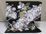 男児正絹初着日本製お宮参り用のきもの送料無料A1308-05