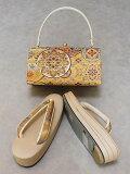 草履・バッグセット白梅ブランド日本製フリーサイズフォーマル用正絹帯地使用送料無料D8518-02