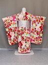 椿姫ブランド ワンランクアップの交織四ッ身着物 七歳用女児きもの 七五三着物 日本製 X0535-01