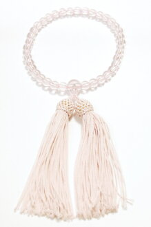 ■ Japan made and artisans hand-made women's Kyoto Rosary harping Crystal with tailoring rayon head with bunch ☆