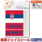 セルビア 国旗 フェイスシール タトゥシール 【 ワールド対応ステッカー ☆ サッカー・野球 ラグビー 代表応援グッズ♪