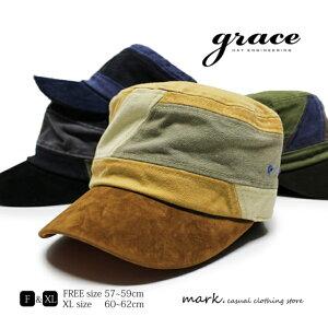 メンズ ワークキャップ ゴルフ 帽子 大きいサイズ フリーサイズ ゴルフキャップ ゴルフ帽子 切替え キャンバス ダック素材 コットン 綿 アウトドア レディース FREE XL ビッグサイズ 大きい 調節可 grace グレース TONE WORK CAP