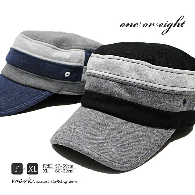 メンズ ワークキャップ ゴルフ 帽子 ゴルフ帽子 ゴルフキャップ キャップ 大きいサイズ フリーサイズ スウェット素材 レディース オールシーズン ワンオアエイト スウェット 切替えパターン ワークキャップ ゴム付き アジャスター