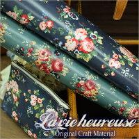 【Lavieheureuse-ラビウルーズ-】オイルクロスブーケダブル幅50cmカット販売バッグ鞄小物の製作に