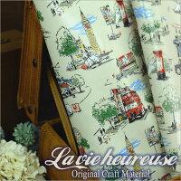 【Lavieheureuse-ラビウルーズ-】オイルクロステリア&バスダブル幅50cmカット販売バッグ鞄小物の製作に