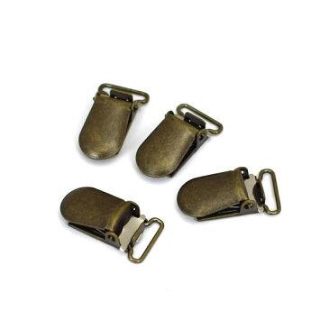 【50%OFF】サスペンダー金具(サスペンダークリップ) 15mm アンティークゴールド 4個