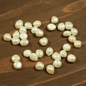 バロックパール(バロック真珠)丸穴ホワイト