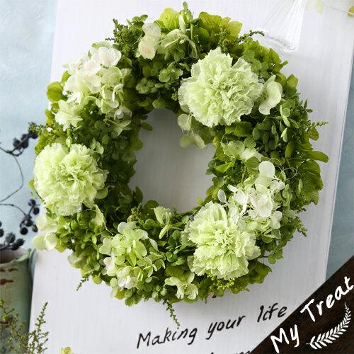バジルリース母の日/プリザーブドフラワー/プリザードフラワー ブリザードフラワ− 花...