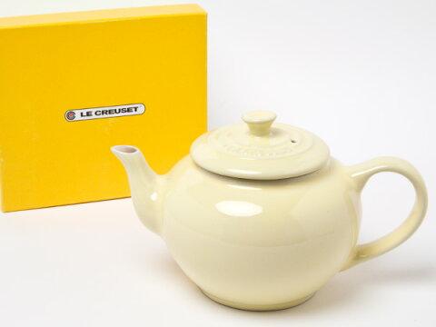 【送料無料】LE CREUSET ル・クルーゼ ティーポットフィルター付き (カスタードイエロー)お茶のふじい・藤井茶舗