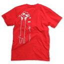 【 ポイント10倍 〜4/16 2時マデ 】 猫 ねこ Tシャツ LOVE CAT ( レッド )   ネコ 猫柄 猫雑貨   メンズ レディース 半袖 トップス   おもしろTシャツ かわいい おしゃれ 大人 親子 ペアルック お揃い プレゼント   大きいサイズ   猫の日   SCOPY / スコーピー