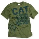 【 今だけ 送料無料 】 【 ポイント10倍 〜4/16 2時マデ 】 猫 ねこ Tシャツ PYGMY LION ( オリーブ ) | ネコ 猫柄 猫雑貨 | メンズ レディース 半袖 トップス | かわいい おしゃれ 大人 ペアルック お揃い プレゼント | 大きいサイズ | 猫の日 | SCOPY / スコーピー