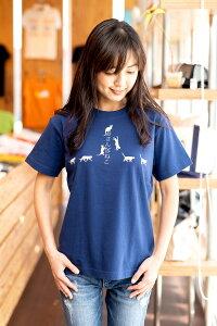 SCOPY(スコーピー)Tシャツおさんぽねこ(あいいろ)
