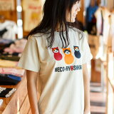 【 クーポンで最大777円OFF 〜7/9 24時マデ】【 送料無料 】 猫 ねこ おもしろ かわいい Tシャツ NECO-RYOSHKA ( ラテ ) | ネコ 猫柄 猫雑貨 | メンズ レディース 半袖 服 | おしゃれ ペアルック プレゼント | 大きいサイズ 【メール便】 SCOPY / スコーピー
