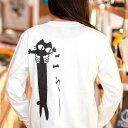 猫 ねこ ロンT LOVE CAT ( ホワイト ) | ネコ 猫柄 猫雑貨 | メンズ レディース 長袖 Tシャツ トップス | かわいい おしゃれ 大人 親子 ペアルック お揃い プレゼント | 大きいサイズ | 猫の日 | SCOPY / スコーピー